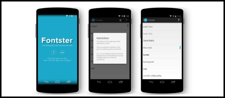 Fontster : Como cambiar la fuente de Android en sencillos pasos