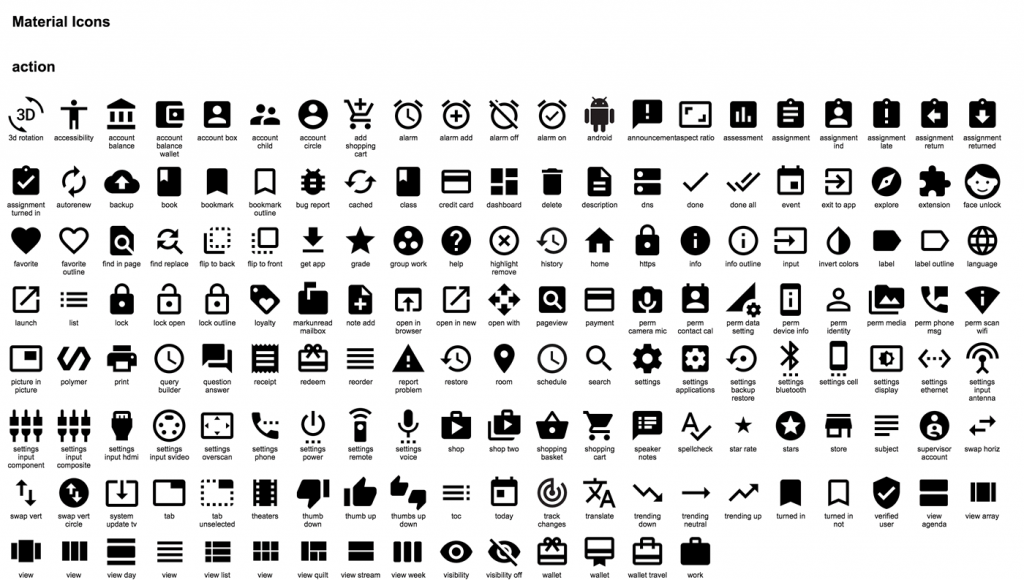 Google Material Icons