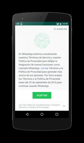 Aceptar o no aceptar? Términos y políticas de Whatsapp