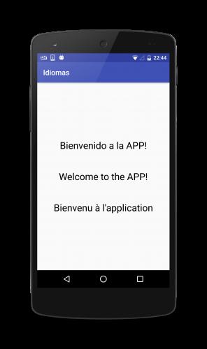 Como añadir varios idiomas en una app