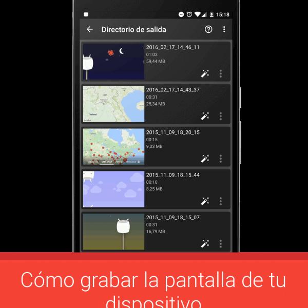Grabar la pantalla en Android